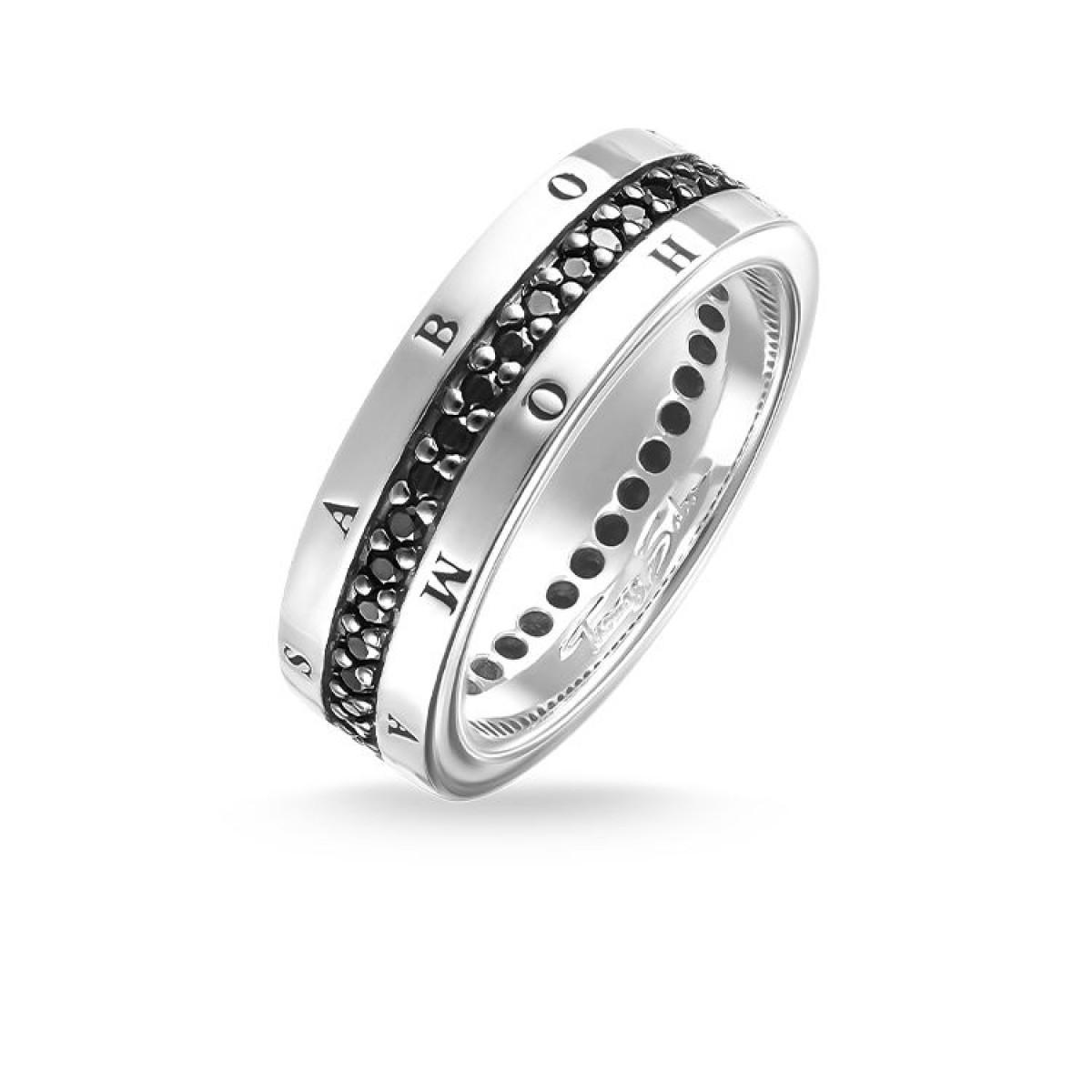 THOMAS SABO Schmuck Eternity-Ring Classic Schwarz TR1944-051-11