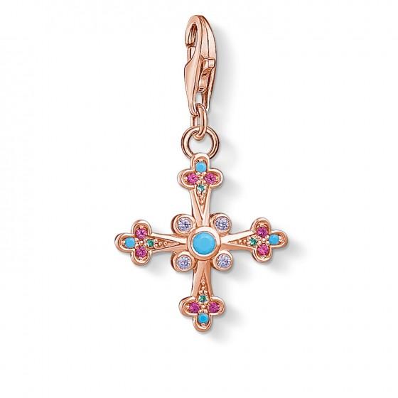 Thomas Sabo 1493-321-7 Charm-Anhänger Viktorianisches Kreuz Rosé-Ton