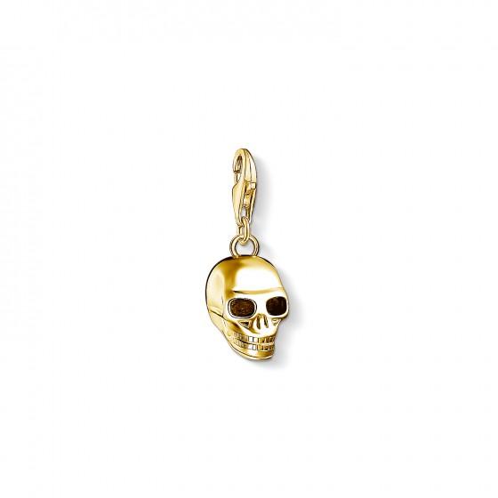 Thomas Sabo Rebel 1549-413-39 Charm-Anhänger Totenkopf Gelb-Gold