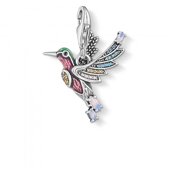 Thomas Sabo 1826-845-7 Charm-Anhänger Bunter Kolibri Sterling-Silber