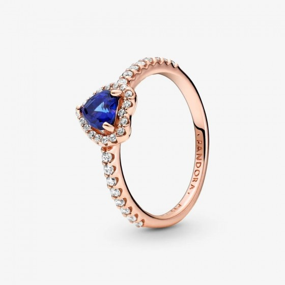 Pandora Rose 188421C01 Ring Funkelndes Blaues Erhabenes Herz