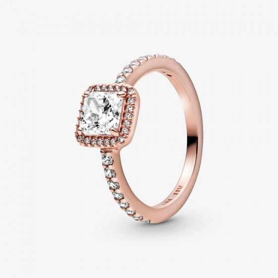 Pandora Rose 188862C01 Ring Damen Quadratischer Funkelnder Strahlenkranz