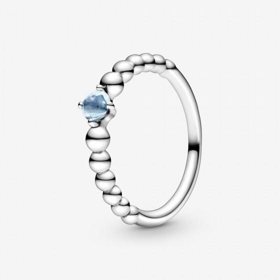 Pandora 198867C01 Ring Damen Aquablaue Metallperlen Silber