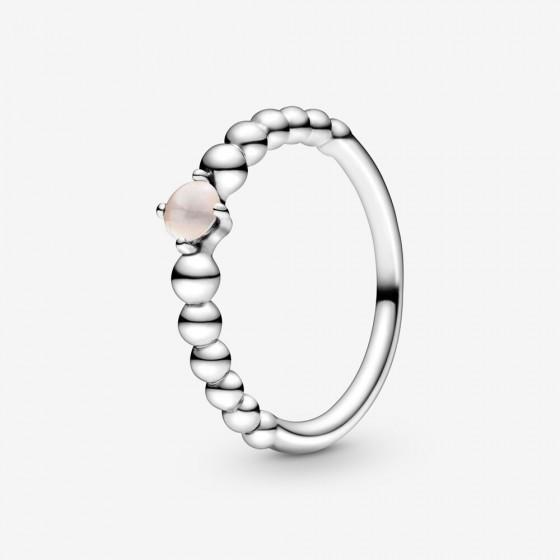 Pandora 198867C06 Ring Damen Roséfarbene Metallperlen Silber