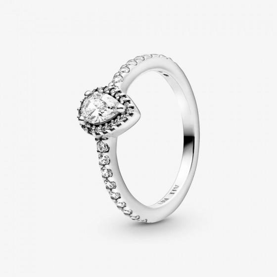 Pandora 198860C01 Ring Damen Klassischer Tropfen-Strahlenkranz Silber