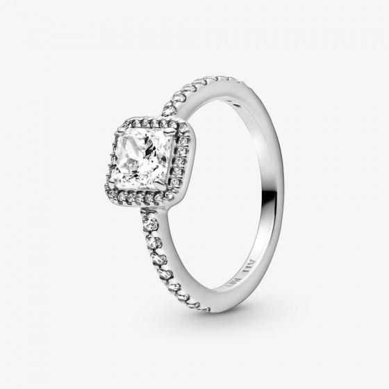 Pandora 198863C01 Ring Damen Quadratischer Funkelnder Strahlenkranz Silber