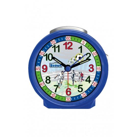 Scout 280001033 Jungen-Wecker Fussball Blau Analog Quarz