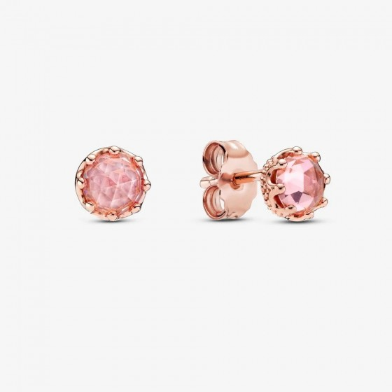 Pandora Rose 288311C01 Ohrstecker Damen Rosafarbene Funkelnde Krone
