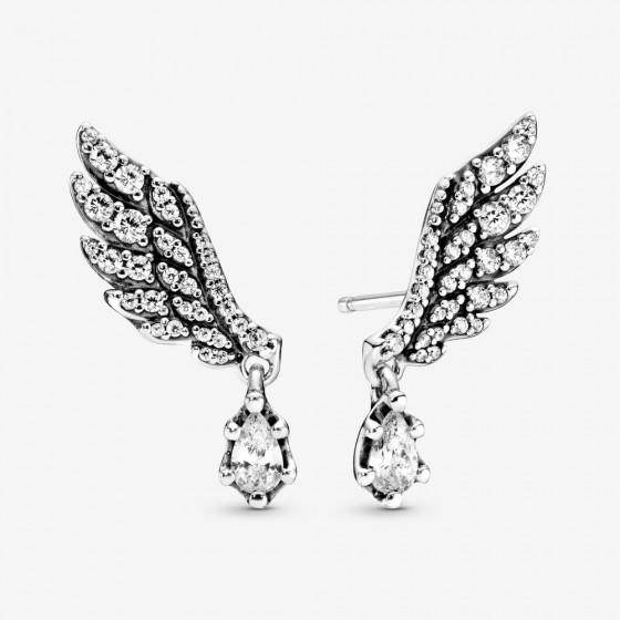 Pandora 298493C01 Ohhringe Damen Hängender Engelsflügel Silber