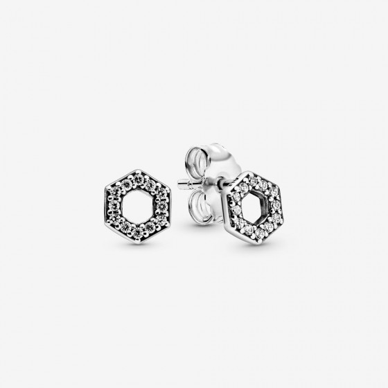 Pandora 298800C01 Ohrstecker Funkelndes Sechseck Silber