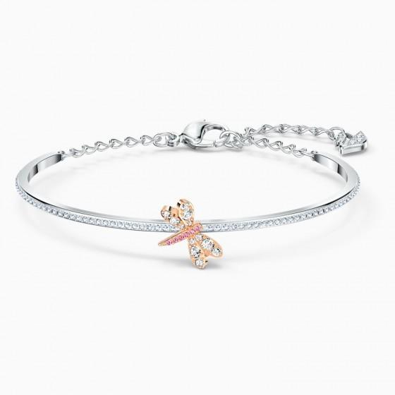 Swarovski 5518138 Armreif Damen Eternal Flower Libelle Rosa Silber-Ton