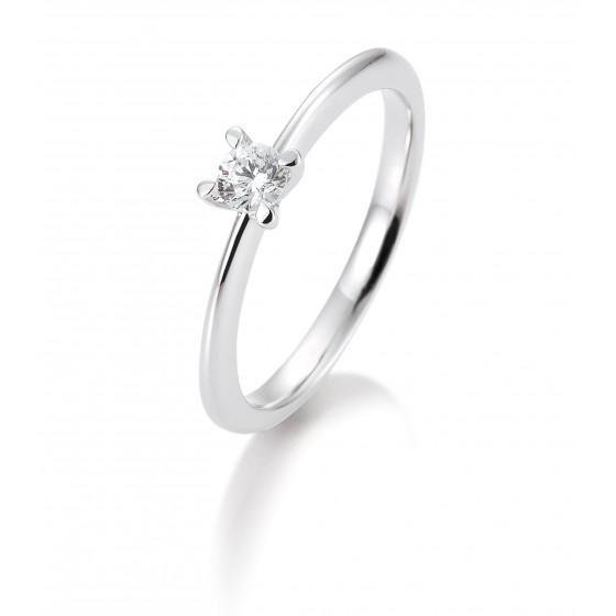 Breuning 41/05635-0 Ring Brillant 0,20 ct W-si 14 kt Weissgold Gr. 52