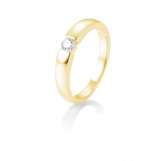 Breuning 41/82128-0 Ring Brillant 0,15 ct W-si 14 kt Gelbgold