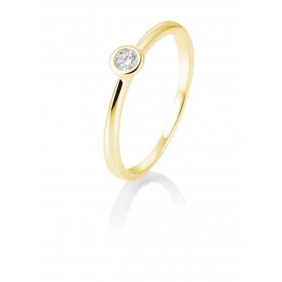 Breuning 41/85127-9 Ring Brillant 0,10 ct W-si 14 kt Gelbgold