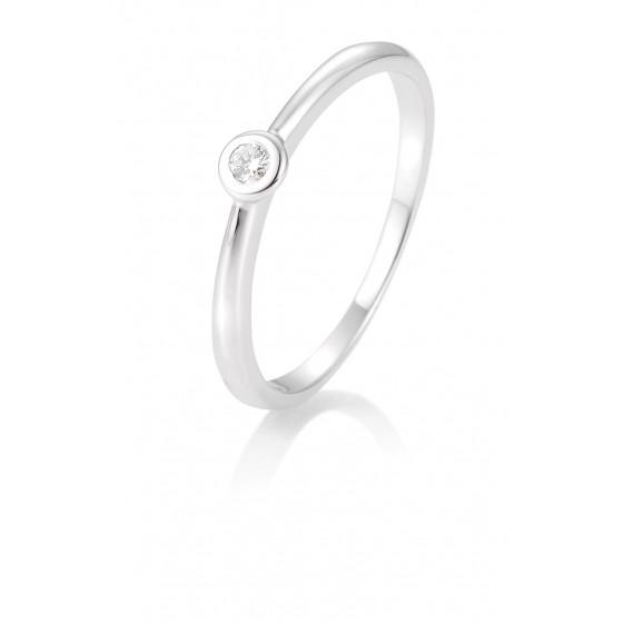 Breuning 41/85771-6 Verlobung-Ring Antrags-Ring 585/- Weiss-Gold