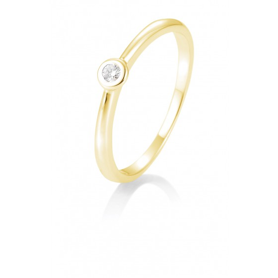 Breuning 41/85771-6 Ring Brillant 0,05 ct W-si 14 kt Gelbgold
