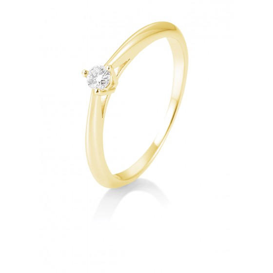 Breuning 41/85806-0 Ring Brillant 0,10 ct W-si 14 kt Gelbgold