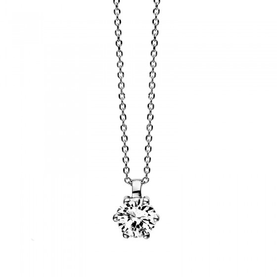Diamond Group 4D246W4 Halskette-Anhänger Brillant 0,25 ct TW-si 14 kt Gold