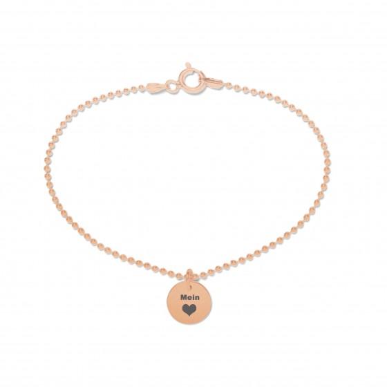 Beka & Bell 5001R Armband Damen Mein Herz - Lieblingsstueck Silber Roségold Gr. S