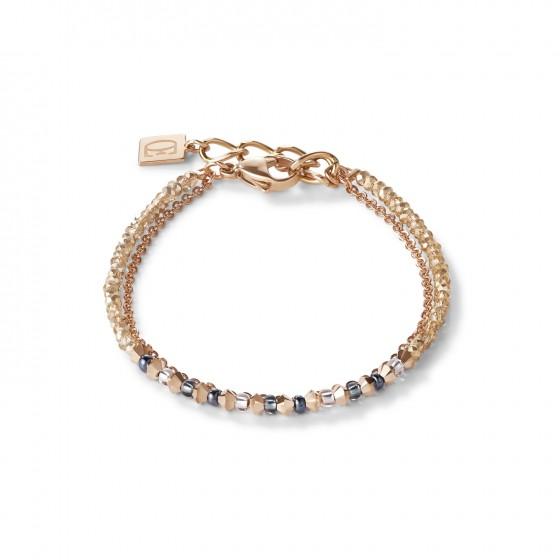 Coeur de Lion 5040/30-1200 Armband Fine Waterfall Swarovski® Kristalle Roségold Grau