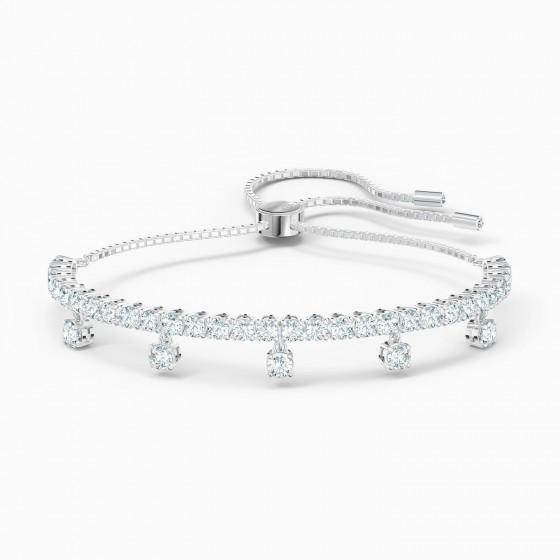 Swarovski 5556913 Armband Damen Subtle Drops Weiss Silber-Ton
