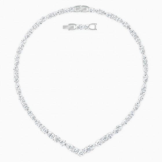 Swarovski 5556917 Collier V-Halskette Tennis Deluxe Mixed Weiss Silber-Ton