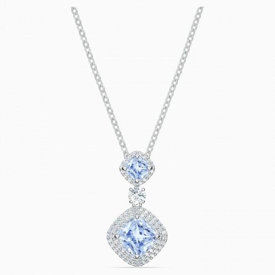 Swarovski 5559381 Halskette mit Anhänger Angelic Blau Silber-Ton