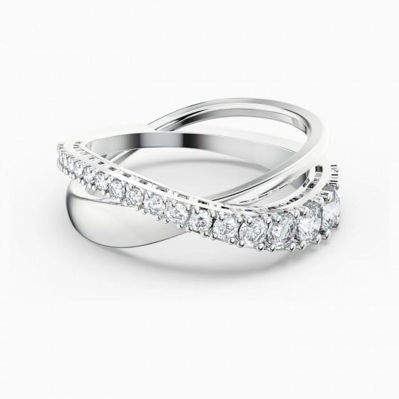 Swarovski Ring Damen  Twist Rows Weiss Silber-Ton