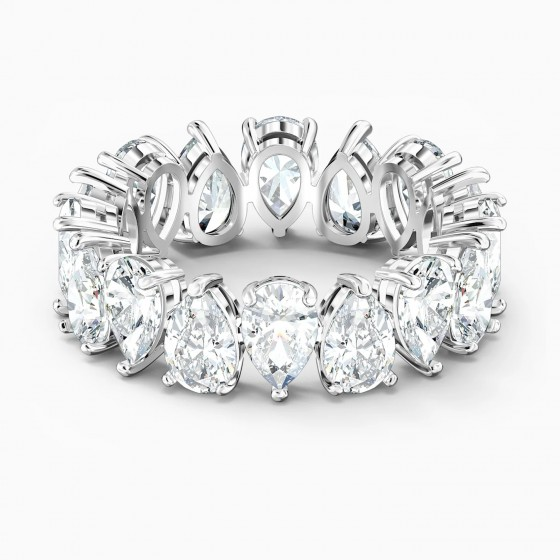 Swarovski Ring Damen Vittore Pear Weiss Silber-Ton