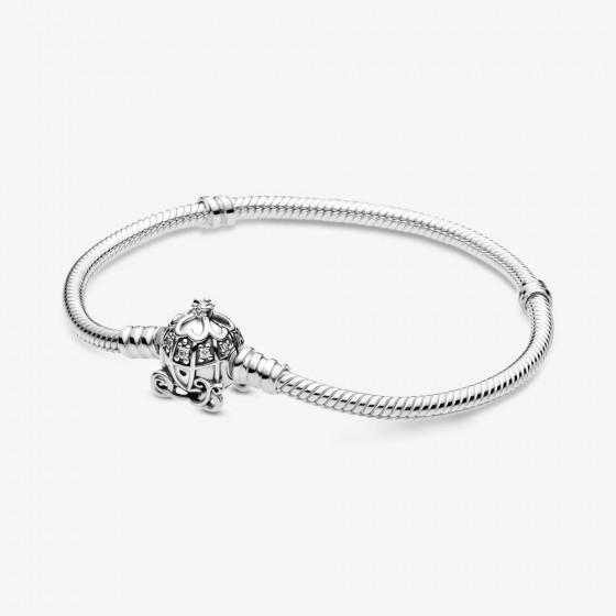 Pandora Disney 599190C01 Armband Cinderella Kürbiskutschen-Verschluss Silber