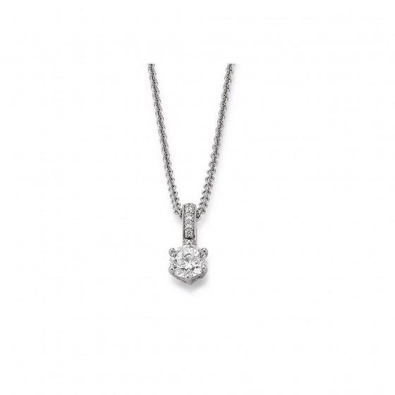 Viventy 777342 Halskette mit Anhänger Damen 6 Zirkonia Sterling-Silber