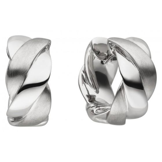 Viventy 782654 Creolen Ohrringe Damen Verdrehte Bänder Sterling-Silber