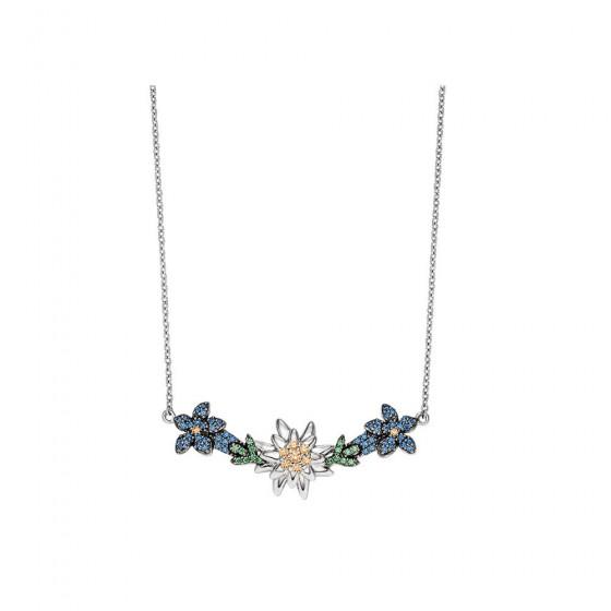 Viventy 782878 Halskette mit Anhänger Damen Enzian und Edelweiß Silber