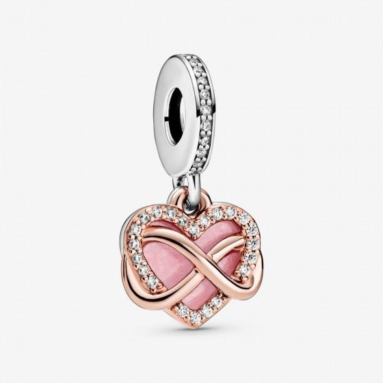 Pandora Rose 788878C01 Charm-Anhänger Funkelndes Unendlichkeits-Herz