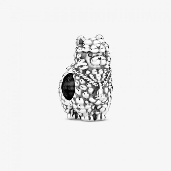 Pandora 799069C00 Charm Damen Flauschiges Lama Silber