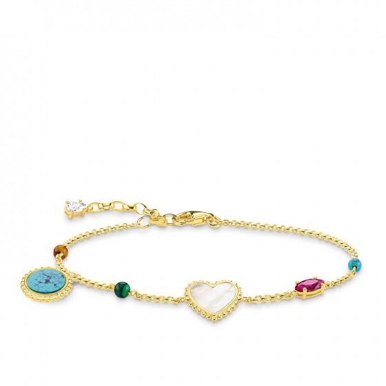 Thomas Sabo A1764-490-7 Armband Damen Riviera Colours Silber Vergoldet