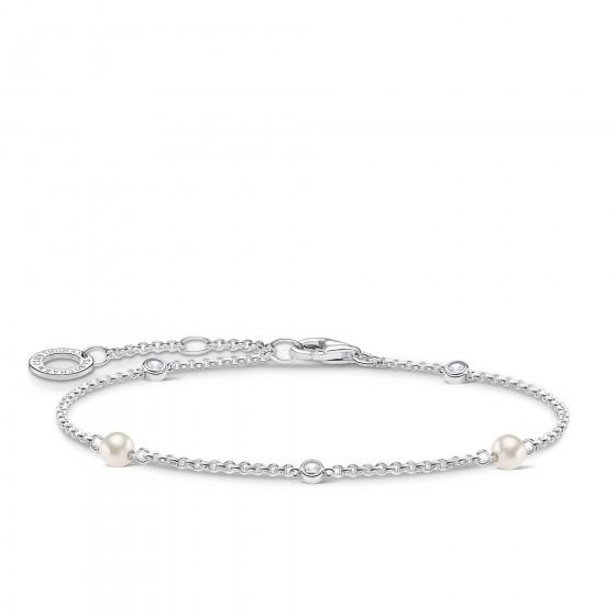 Thomas Sabo A1989-167-14 Armband Damen mit Süßwasserzuchtperlen Sterling-Silber