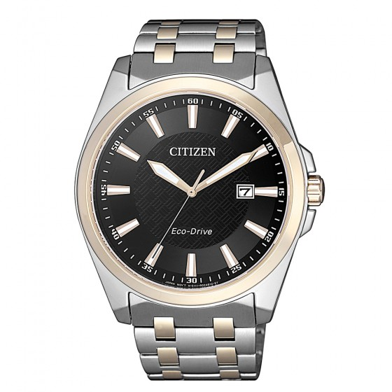 Citizen BM7109-89E Eco-Drive Sports Herren-Uhr Analog Quarz mit Edelstahl-Band