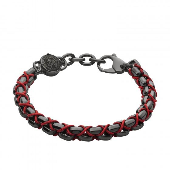 Diesel DX1181060 Armband Herren Stackables aus Edelstahl Nylon