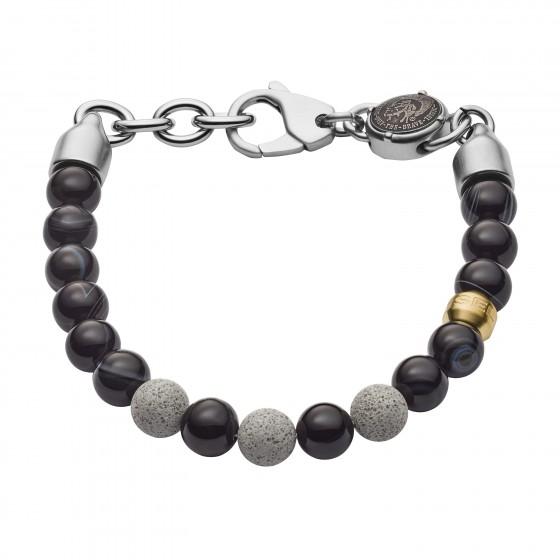 Diesel DX1192040 Armband Herren Beads aus Achat/Edelstahl