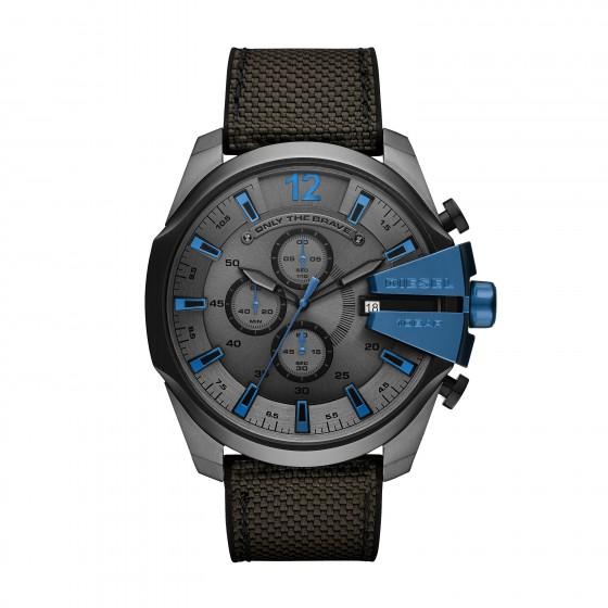 Diesel DZ4500 Herren-Uhr Mega Chief Blue Tech Chronograph Datum Ø 51 mm