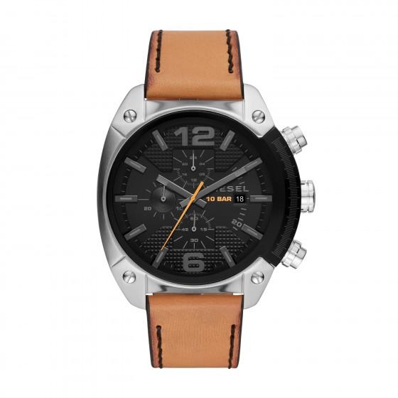 Diesel DZ4503 Herren-Uhr Overflow Chronograph mit Lederband Ø 49 mm
