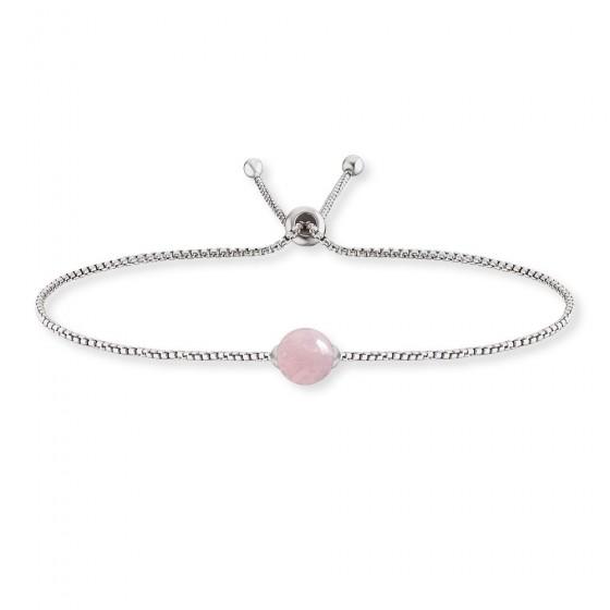 Engelsrufer ERB-LILGEM-RQ Armband Rosenquarz Silber