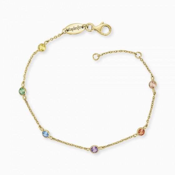 Engelsrufer ERB-LILMOON-ZIM-G  Armband Monnlight Gold Zrikonia Multicolor