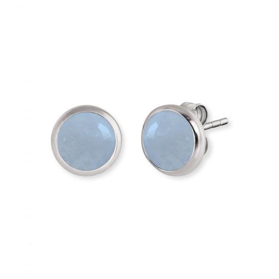 Engelsrufer ERE-AQ-ST Ohrringe Ohrstecker Aquamarin Silber
