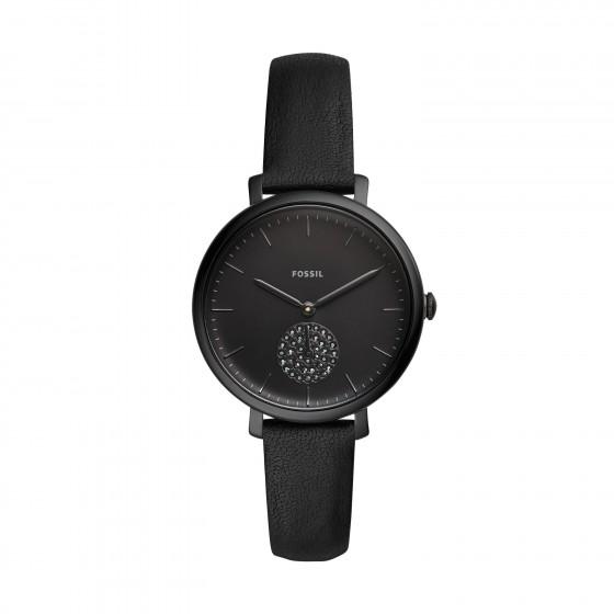 Fossil ES4490 Damen-Uhr Jacqueline Analog Quarz mit Leder-Band Ø 36 mm