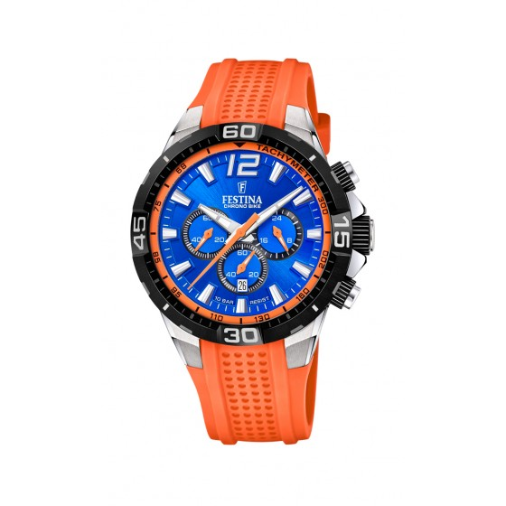 Festina F20523/6 Herren-Uhr Chrono Bike Chronograph Quarz Silikon-Armband