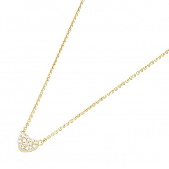 Karat 99041450450 Kette mit Anhänger Damen Herz 585/- Gelb-Gold 15 Brillanten