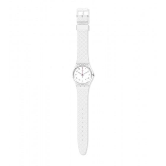 Swatch GE286 Armband-Uhr Whitenel Analog Quarz Silikon-Armband