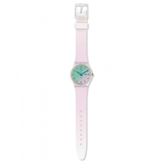 Swatch GE714 Armbanduhr Ultrarose Analog Quarz Silikon-Band Ø 34,00 mm
